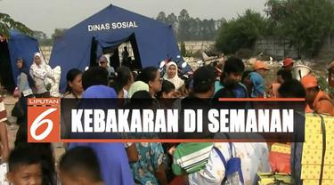 Hingga kini para korban kebakaran terpaksa tinggal sementara di tenda pengungsian yang didirikan Dinas Sosial DKI Jakarta.