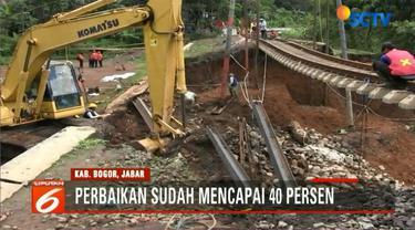 Rencananya, jembatan darurat akan dibuat untuk mempercepat operasional kereta dan ditargetkan akan selesai pada 14 Februari mendatang.