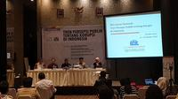 Lembaga Survei Indonesia (LSI) bersama ICW merilis hasil survei nasional terkait persepsi publik terhadap korupsi. (Liputan6.com/Nanda Perdana Putra)