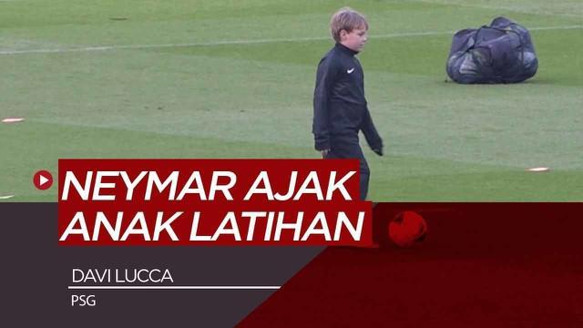 Berita Video Usai Pulih, Neymar Ajak Anak Latihan Bersama PSG