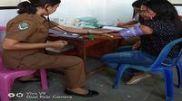 Posko kesehatan saat pleno di tingkat PPK di Sulut (Liputan6.com/ Yoseph Ikanubun)