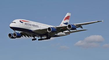 Ilustrasi maskapai British Airways.