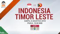 Piala AFF U-16 Indonesia Vs Timor Leste (Bola.com/Adreanus Titus)