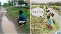 Aksi Kocak Saat Orang Mancing Ini Bikin Geleng-Geleng (sumber:Instagram/receh.id)