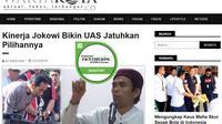 [Cek Fakta] Hoaks Ustaz Abdul Somad Dukung Jokowi