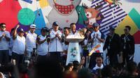 Kirab Obor Asian Games 2018 berada di Pulau Bali selama tiga hari, sejak kedatangan hari Senin, 22 - 25 Juli 2018