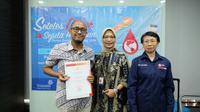 Kerjasama Lintasarta dengan PMI DKI Jakarta. foto: istimewa