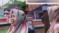 Emak-Emak Dihukum Baca Pancasila. Instagram/@video_medsos ©2020 Merdeka.com