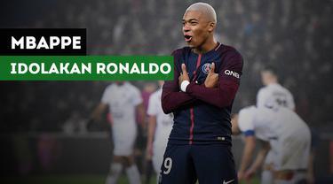 Striker PSG, Kylian Mbappe mengakui Cristiano Ronaldo adalah idola masa kecilnya.