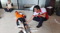 Pelatihan pertolongan pertama terhadap korban bencana yang digelar BNPB. (Liputan6.com/ Yopi Makdori)