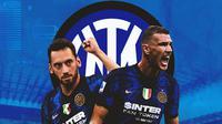 Inter Milan - Hakan Calhanoglu dan Edin Dzeko (Bola.com/Adreanus Titus)