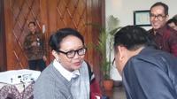 Menlu Retno LP Marsudi memaparkan kaitan antara politik luar negeri, Asian Games, dan Pancasila dalam pembukaan Kongres Pancasila X di UGM (Liputan6.com/ Switzy Sabandar)