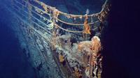 Bangkai kapal Titanic di dasar Laut Atlantik (Wikipedia)