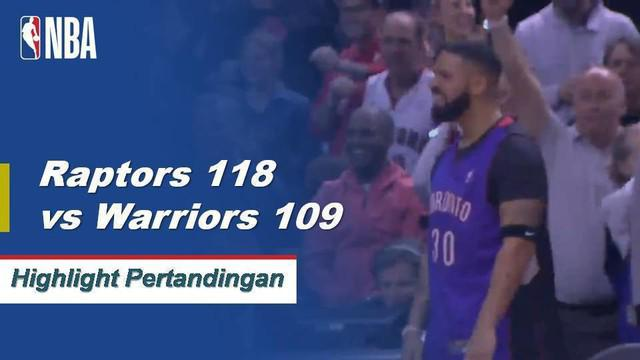 Pascal Siakam berhasil mencetak 32 poin dalam kemenangan Raptors atas Warriors di Game 1 Finals dengan skor 118-109.