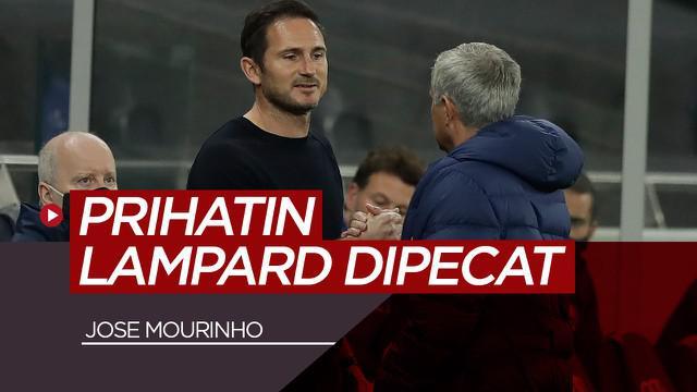 Berita video komentar Jose Mourinho mengenai pemecatan Frank Lampard oleh Chelsea