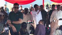 Presiden Joko Widodo (Jokowi) Hadir di Nabire, Papua, Rabu (20/12/2017). (Vina Muliana/Liputan6.com)