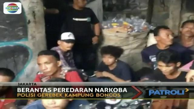 Dalam operasi selama 2 jam, polisi ringkus tujuh orang positif narkoba.