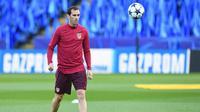 Bek Atletico Madrid asal Uruguay, Diego Godin. (AFP/Paul Ellis)