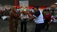 Pemkot Surabaya menggelar Pekan Olah Raga Masyarakat Kota (Pormaskot) pada 23 – 30 Oktober 2019. (Foto: Liputan6.com/Dian Kurniawan)