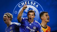 Chelsea - Fernando Torres, Andriy Shevchenko, Kepa Arrizabalaga (Bola.com/Adreanus Titus)