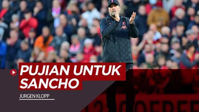 Berita video komentar Jurgen Klopp untuk Jadon Sancho jelang Manchester United Vs Liverpool, Minggu (24/10/21)