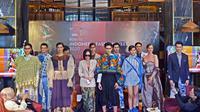 Jumpa pers dan fashion show soft launch Indonesia Fashion Week (IFW) 2020 di Sofia at the Gunawarman, Kebayoran Baru, Jakarta Selatan, 9 Oktober 2019. (Liputan6.com/Asnida Riani)