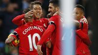 Liverpool berhasil unggul sementara dengan skor 3-1 saat menghadapi Manchester City di Etihad Stadium, Minggu (22/11/2015) dini hari WIB.