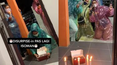 Kisah seorang wanita yang terpaksa merayakan ulang tahunnya saat isoman.
