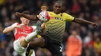 3. Odion Ighalo, mencetak 10 gol dari 16 kali penampilan bersama Watford. (AFP/Paul Ellis)