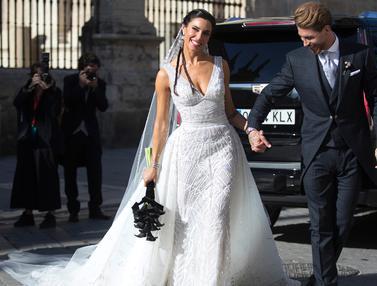 Momen Kebahagian Sergio Ramos dan Pilar Rubio di Hari Pernikahan