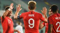 Hingga kini Harry Kane tercatat sebagai top scorer Kualifikasi Piala Eropa 2020. (AFP/Nikolay Doychinov)