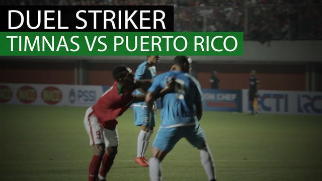 Berita video duel kasar striker Timnas Indonesia, Marinus Wanewar, dengan penyerang Puerto Rico, Hector Ramos.