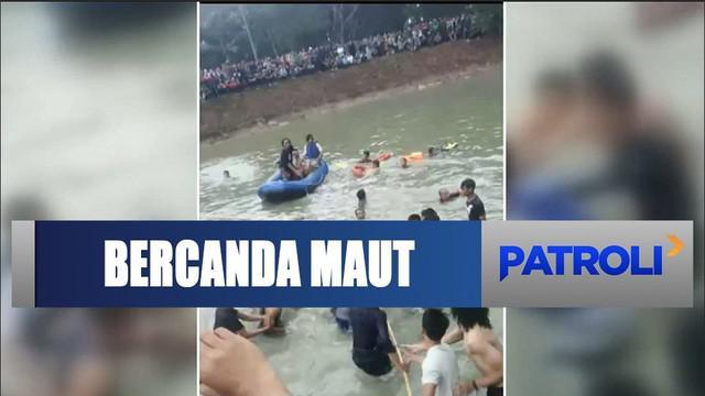 Dua mahasiswa UIN Bandar Lampung tewas tenggelam di embung kampus akibat bercanda saat merayakan ulang tahun.