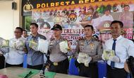 Sabu Malaysia yang dipasok dari China tujuan Jakarta disita Polresta Pekanbaru dari tiga tersangka. (Liputan6.com/M Syukur)