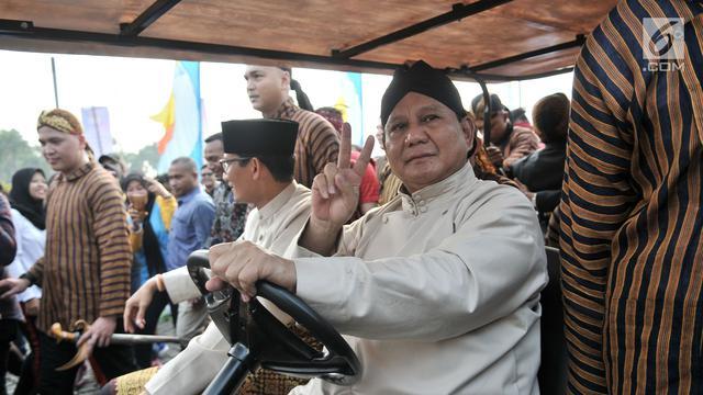Foto Silang Kata Prabowo Capres Malas Kampanye