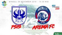 Liga 1 2018 PSIS Semarang Vs Arema FC (Bola.com/Adreanus Titus)