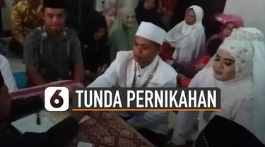 Saat ini Indonesia sedang menggencarkan social distancing karena wabah virus Corona. Membuat Pemerintah Daerah meminta pengantin yang akan mengadakan resepsi pernikahan di tunda terlebih dahulu.