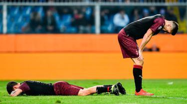 Reaksi Pemain AC Milan Saat Dikalahkan Sampdoria