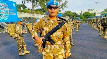 Prajurit TNI AD, Serma Rama Wahyudi, yang gugur di Kongo.