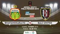Piala Presiden: Bhayangkara FC vs Bali United. (Bola.com/Dody Iryawan)