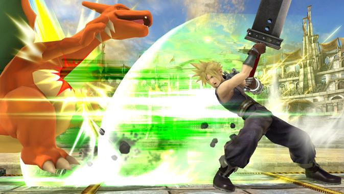 Cloud Strife muncul di Super Smash Bro. (Doc: The Verge)