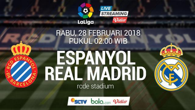 Nonton Live Streaming La Liga Sctv Espanyol Vs Real Madrid