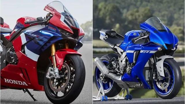 Honda Cbr1000rr R Fireblade Vs Yamaha R1 Siapa Yang Terbaik Otomotif Liputan6 Com