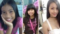 Transformasi gadis Filipina (Facebook Alexis Corbi)