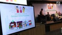 "Suasana seminar Gojek Wirausaha #GerakanOnlineNusantara ""UMKM Kreatif dan Mandiri Kreasi Anak Bangsa"", Jakarta, Selasa (27/8/2019). Gojek melatih 550 UMKM yang berada dalam naungan enam kementerian/lembaga supaya bisa naik kelas dan punya peran aktif di ekonomi digital. (Liputan6.com/Angga Yuniar)"