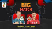 Liga 2 2021, Kamis (14/10/2021) :PSMS Medan vs Semen Padang
