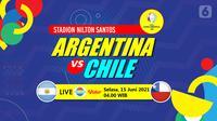 Argentina vs Chile (liputan6.com/Abdillah)