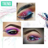 Riasan mata bergambar unicorn. (Sumber foto: Boredpanda.com, Digital Imaging: Nurman Abdul Hakim/Bintang.com).