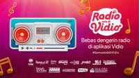 Fitur baru streaming radio di aplikasi Vidio. (Sumber: Vidio)