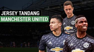 Berita video motion grafis tentang jersey tandang Manchester United Musim 2017-2018.